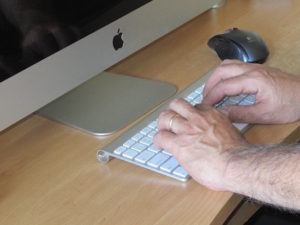 Lots of typing runs the risk of carpal tunnel syndrome, and it hurts. Credit: Front Page Science.